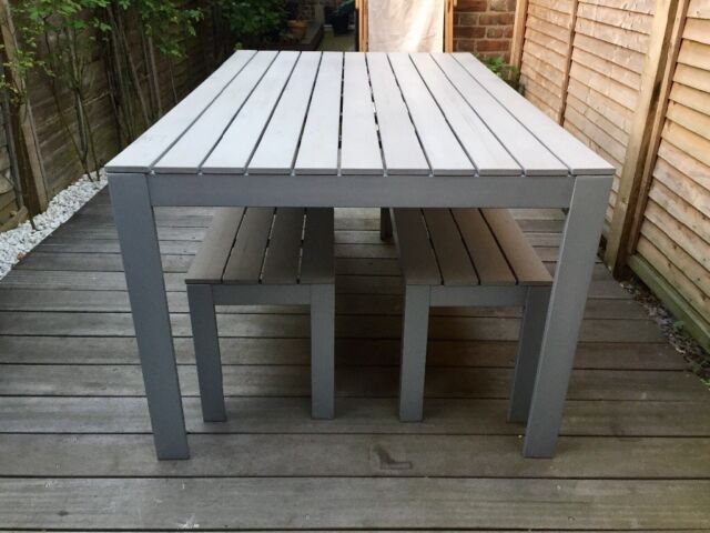 IKEA U0027Falsteru0027 Outdoor Dining Set (table U0026 2 X Benches) In Great Condition.