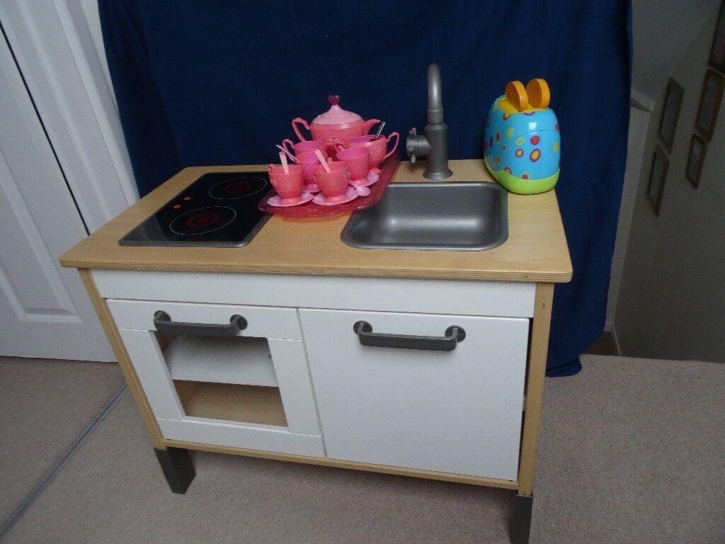IKEA Duktig childrenu0027s wooden Toy Kitchen with accessories. Plates. Food. Pans & IKEA Duktig childrenu0027s wooden Toy Kitchen with accessories. Plates ...