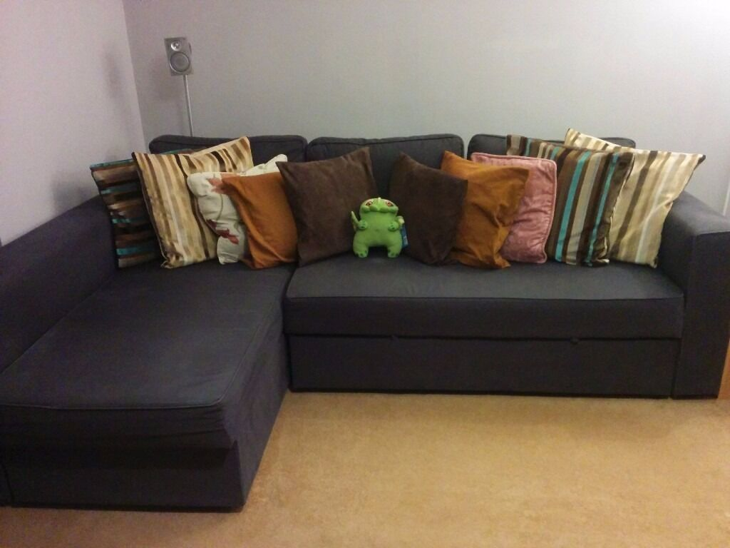 IKEA Manstad Navy Blue Sofa Bed With Storage (similar To Friheten)