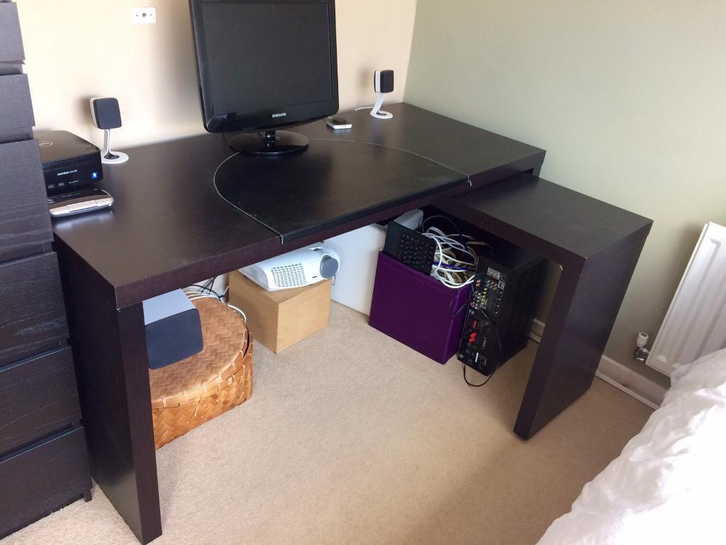 IKEA Malm Desk With Pull Out Panel Good Ideas
