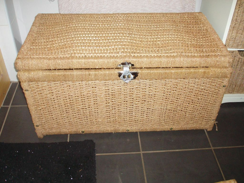 Seagrass Wicker Rattan Reed Storage Blanket Box Chest Large Trunk