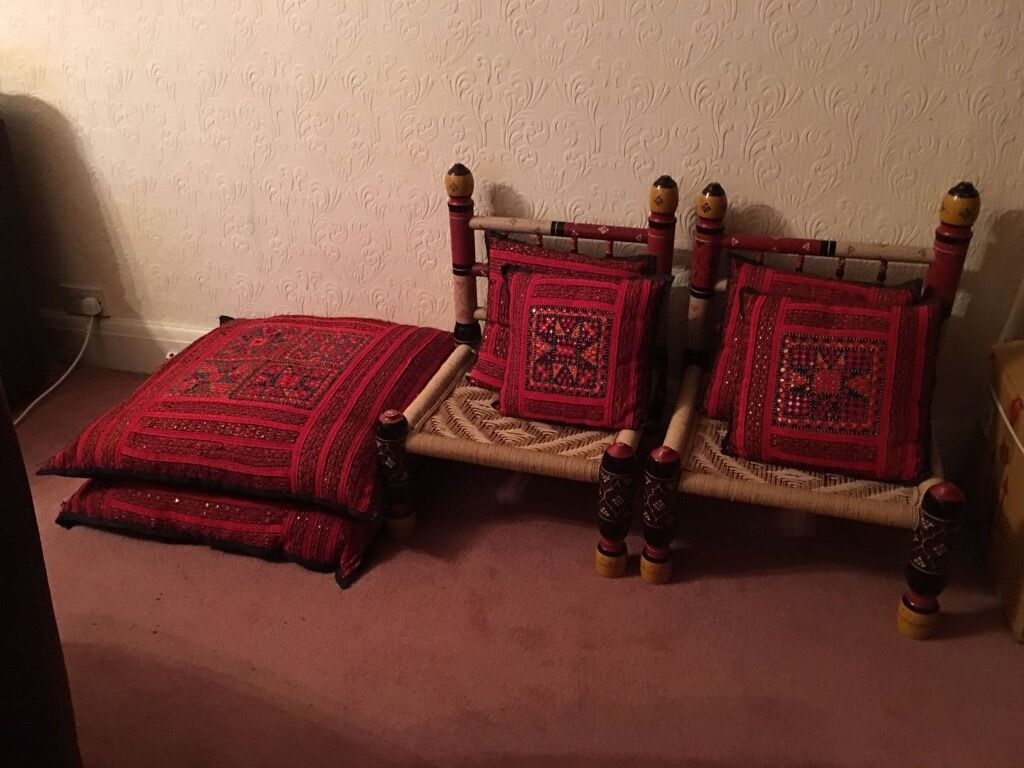 Ethnic Arabian Style Low Lying Hala Chairs Sofa Settee