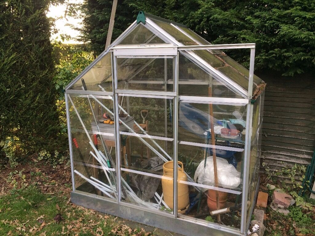 palram 6x4 metal greenhouse used
