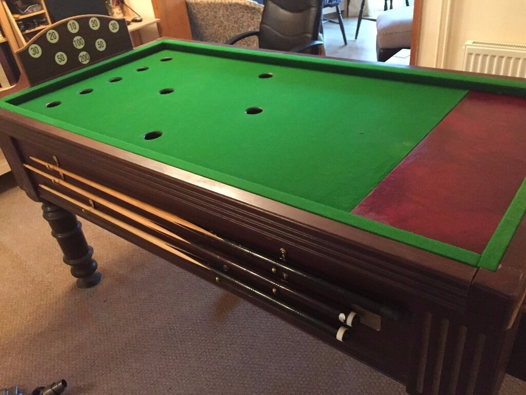 Good Condition, Full Size Slate Bed Bar Billiards Table For Sale. All  Accessories Included