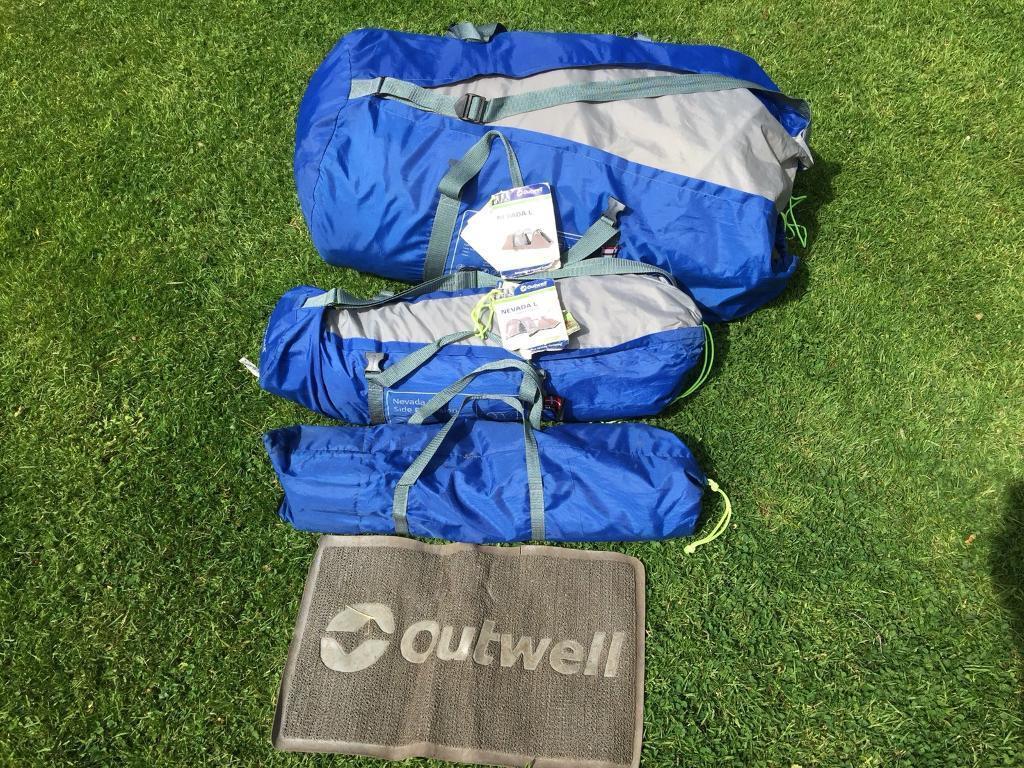 Outwell Nevada L 6 man tent and Nevada L side extension & Outwell Nevada L 6 man tent and Nevada L side extension | in ...