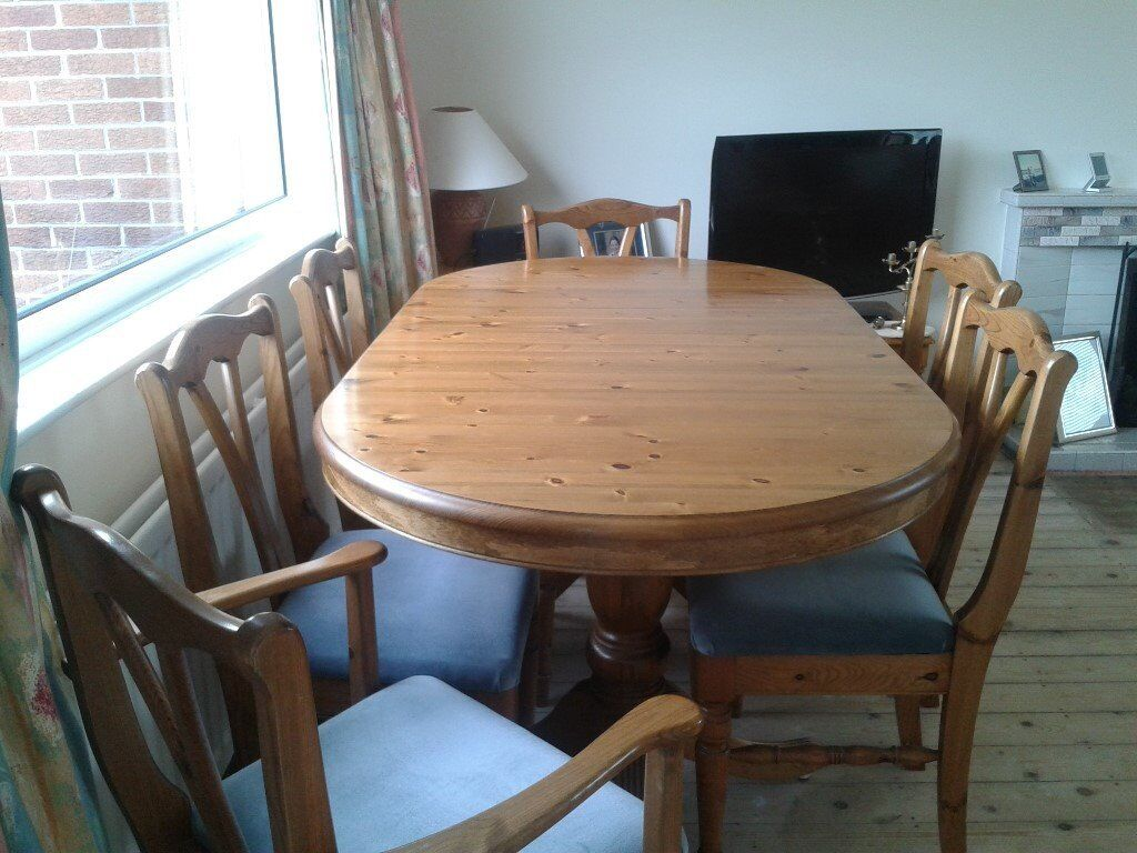 Ducal Victoria Pine Extending Oval Table And Chairs