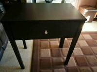 ikea blackbrown extendable console table