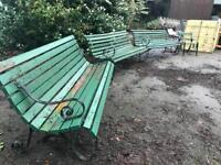stunning original vintage park benches prices in description for each
