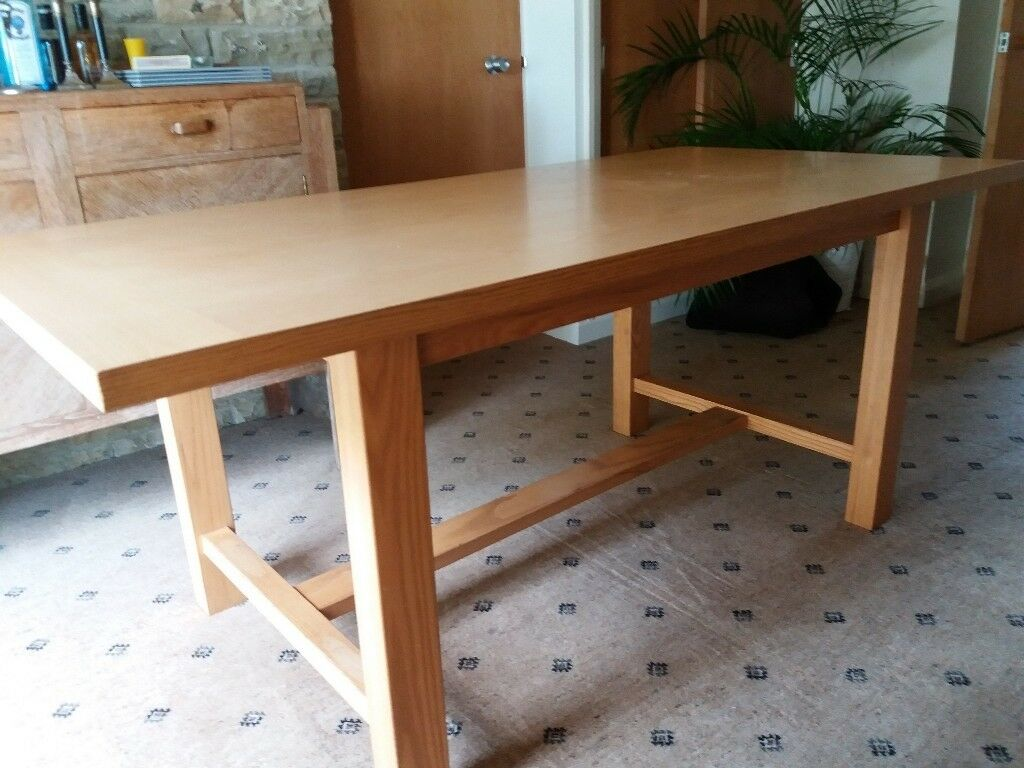 Habitat 6 Seater Dining Table In Pale Wood