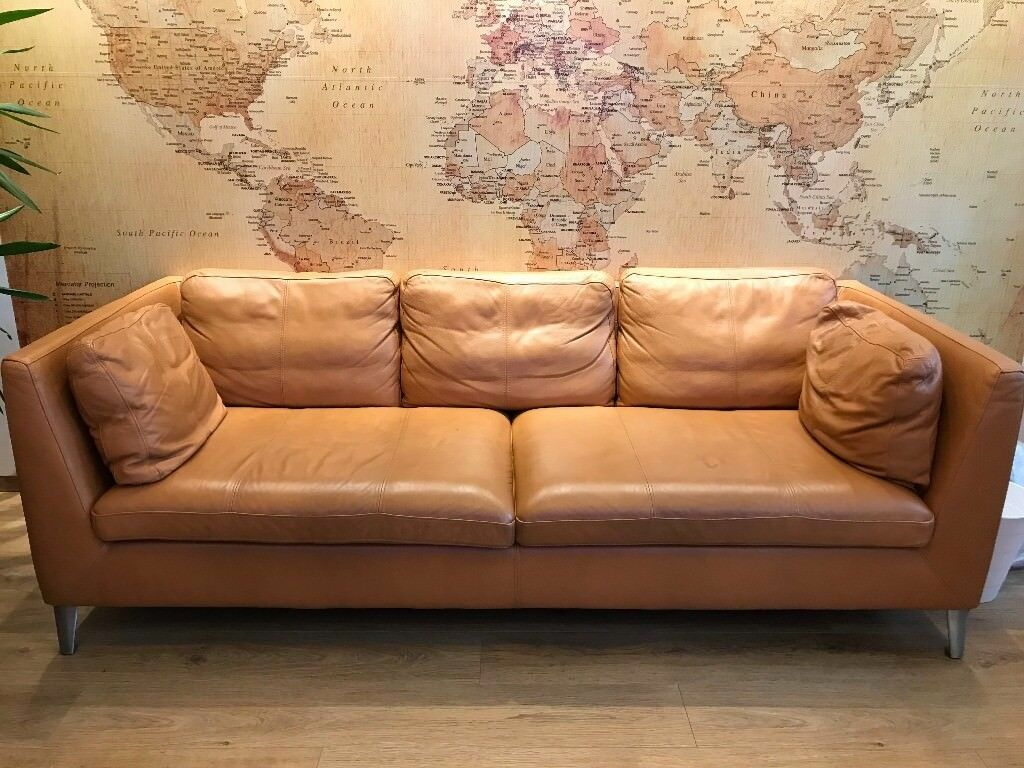 Lovely Ikea STOCKHOLM Real Leather Sofa   Bargain