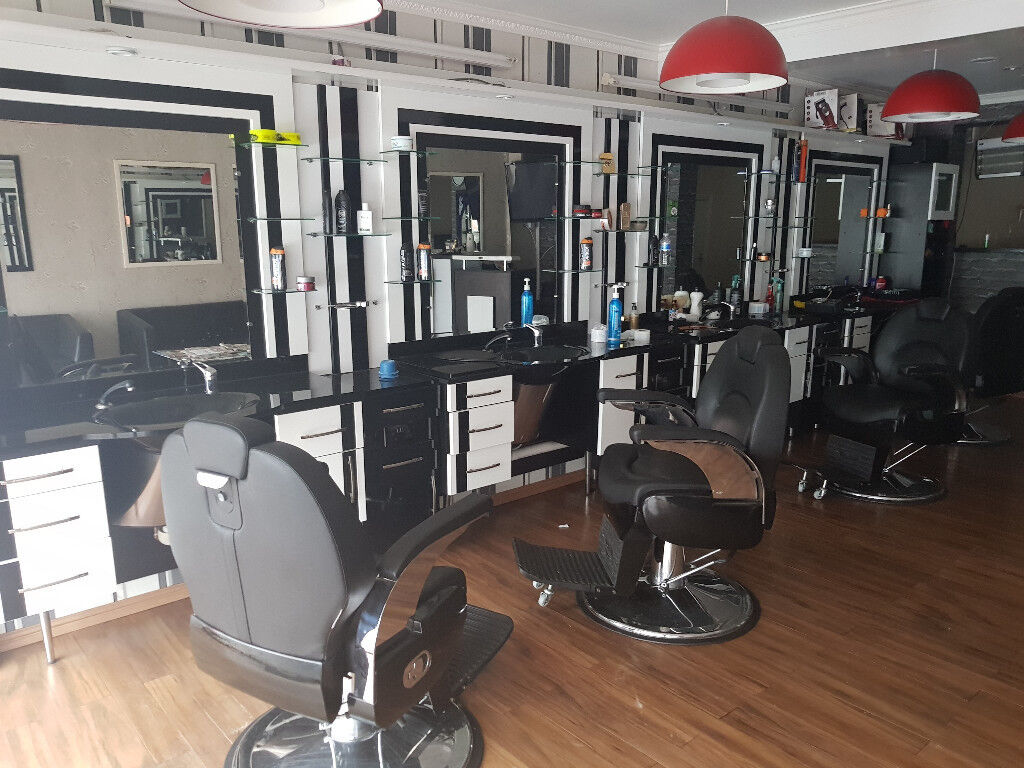 Barber Shop Chairs, Cabinets And Mirrors | In Romford ...
