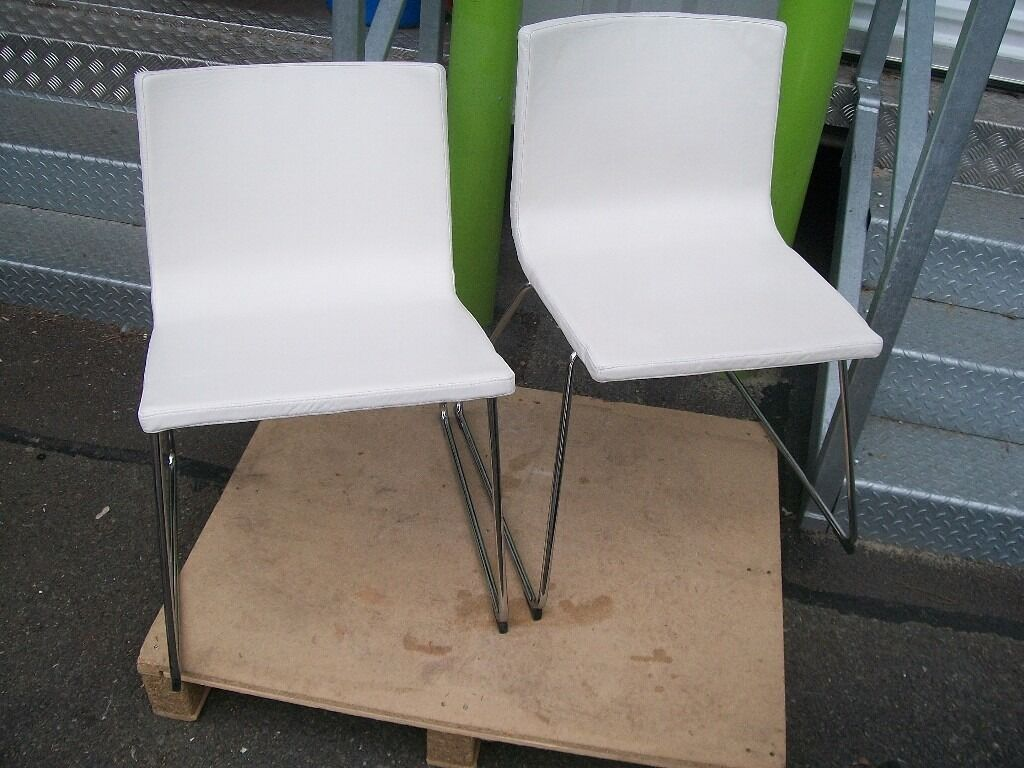 Ikea Bernhard Chair   White   X 2