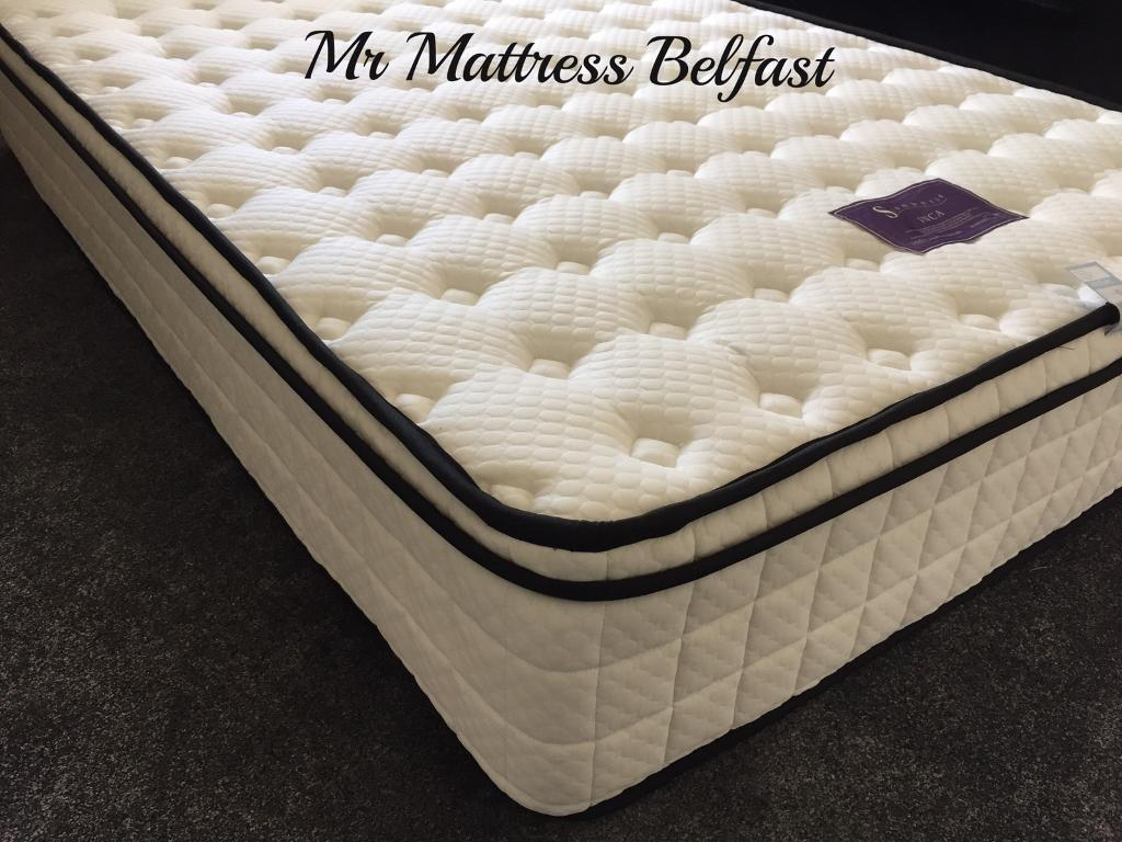 luxury ambassador hotel feel 12 inch deep pocket sprung u0026 pillow top mattresses
