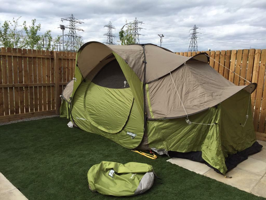 Quechua Base 4.2 Seconds 4 man Pop Up Tent & Quechua Base 4.2 Seconds 4 man Pop Up Tent | in Newcastle Tyne ...
