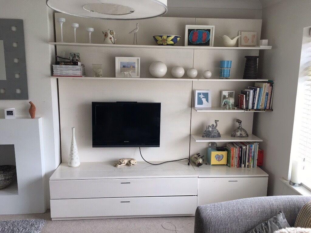 Ikea Stiby Tv Panel With Media Storage Unit   FREE