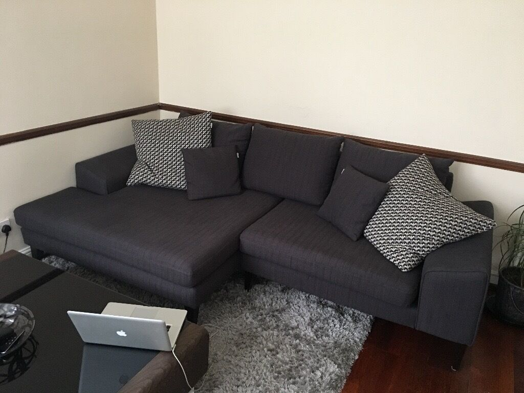 DFS Quartz Charcoal Sofa
