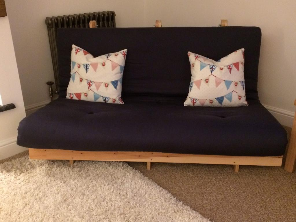Double Futon Sofa Bed. Navy