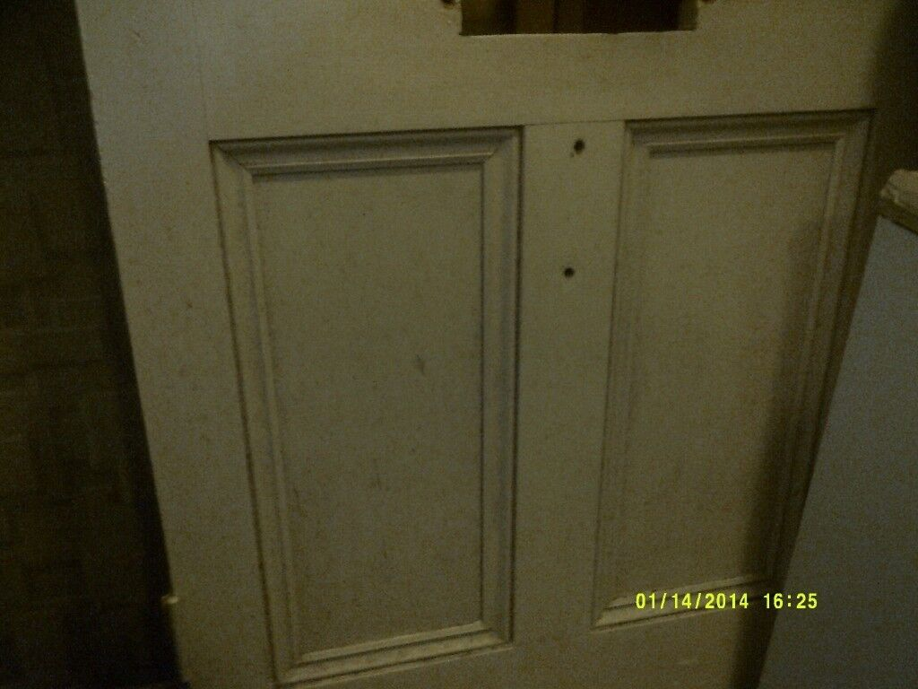 Elegant A SUPERB SOLID WOOD DOOR ( NO PLASTIC ) IN V.G.C. As Are The 9 PANES Of  GLASS . +