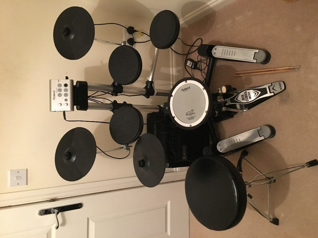 ROLAND TDK 1 electronic drum kit including kick pedal + stool. no &. perfect & ROLAND TDK 1 electronic drum kit including kick pedal + stool. no ... islam-shia.org