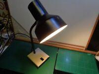 Vintage Anglepoise Lighting Ltd. Model 99 Desk Lamp Black Shade/Neck Cream  Base