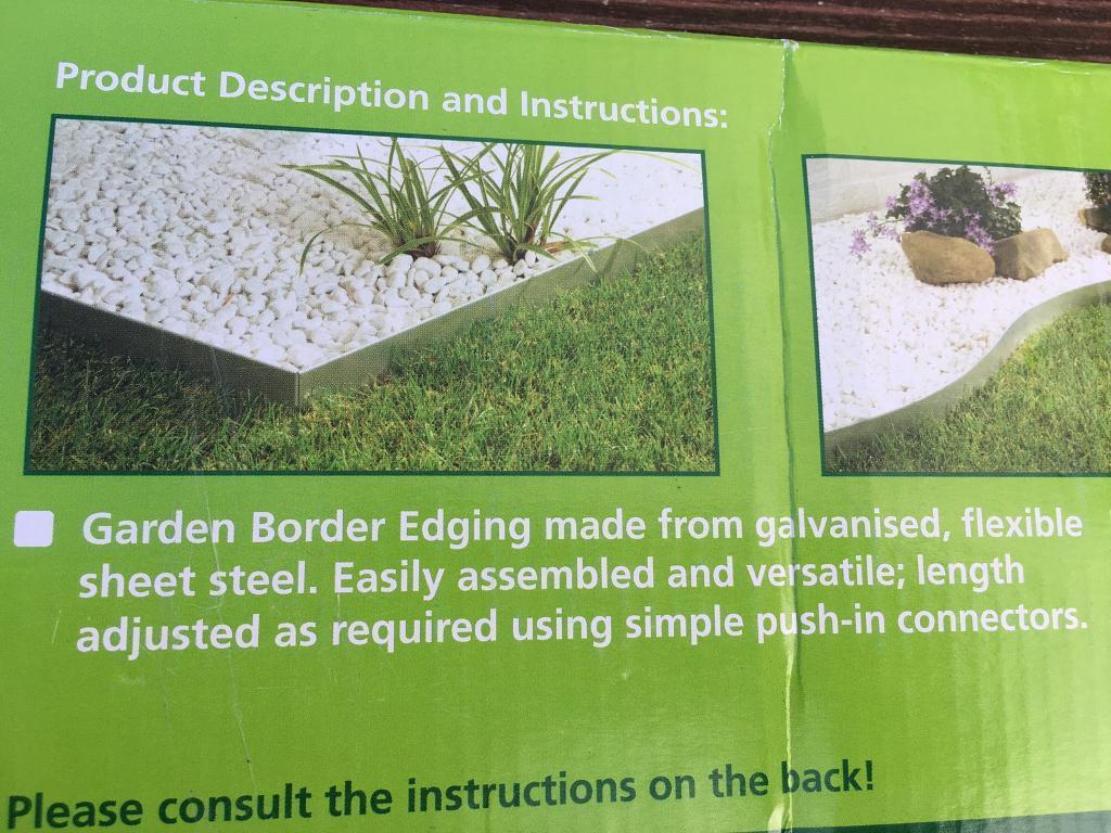 Galvanised Steel Garden Edging New