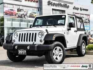 2017 Jeep Wrangler Sport, Auto, A/C, Trailer Hitch, 35,900 KMS