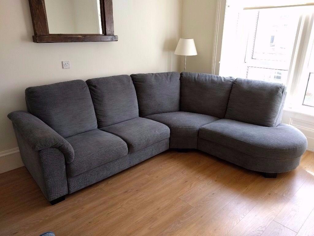 Nice LIKE NEW Grey Corner Sofa IKEA TIDAFORS   ONO