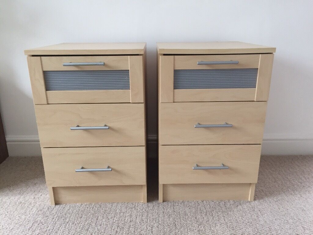 Pair Of Ikea Malm 3 Drawer Bedside Chests In Maple In & Ikea Bedside Cabinets Malm - Nagpurentrepreneurs