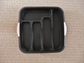 Matalan Black Speckle Plastic Cutlery Tray / Kitchen Drawer Organiser / Tidy / Storage Rack & Matalan Black Speckle Plastic Cutlery Tray / Kitchen Drawer ...