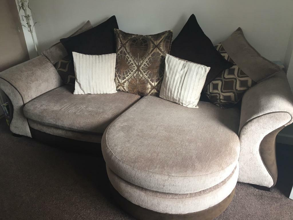 Merveilleux DFS Sofa, Cuddle Chair And Poofy