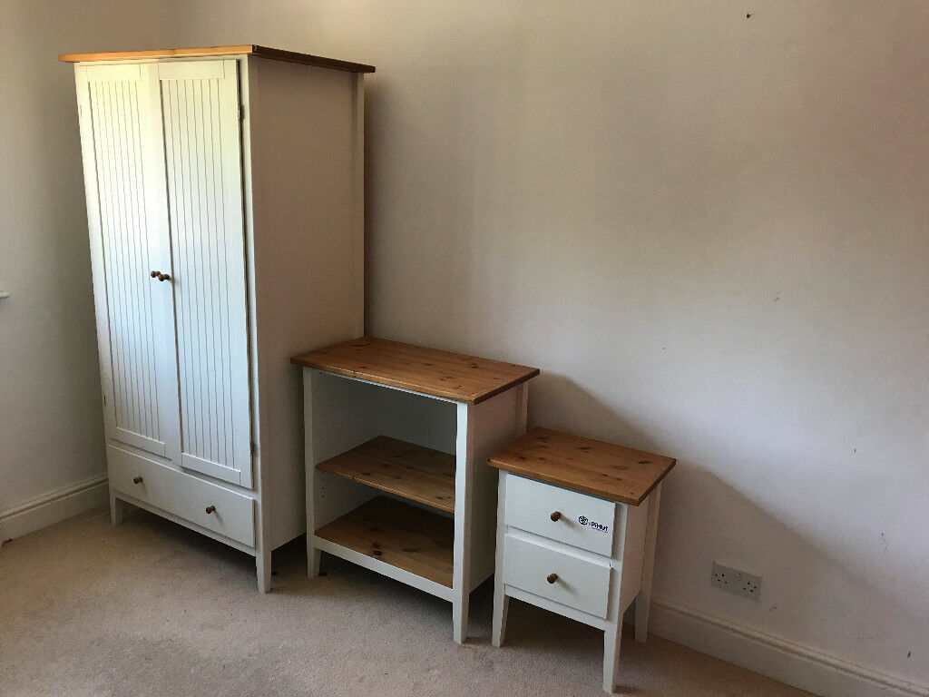 Wardrobe, Drawers And Storage, White And Pine For Bedroom