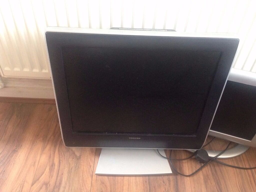 Toshiba 20 Inch Flat Screen Tv And JVC 13 Inch Flat Tv
