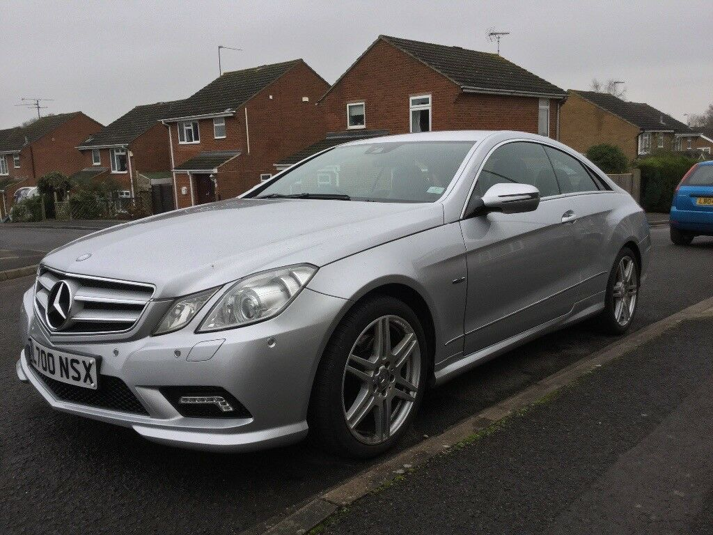 Mercedes E350 Sport Coupe Blue AMG Full Service