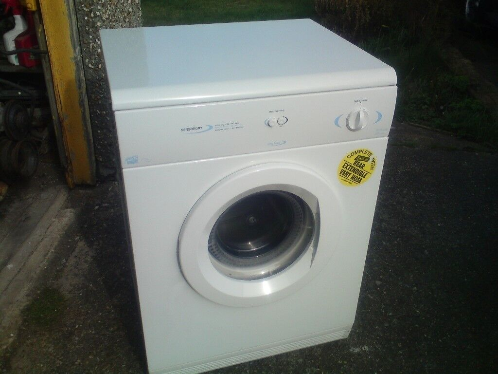 LARGE INDESIT/WHITE KNIGHT REAR VENTED TUMBLE DRYERCAN BE SEEN WORKING & LARGE INDESIT/WHITE KNIGHT REAR VENTED TUMBLE DRYERCAN BE SEEN ...