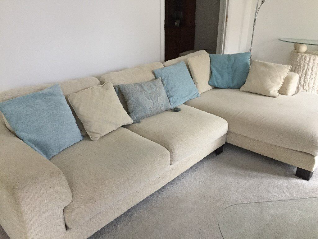 SOFAS X 2   L Shaped Sofa And Matching 2/3 Seater Sofa. Pet