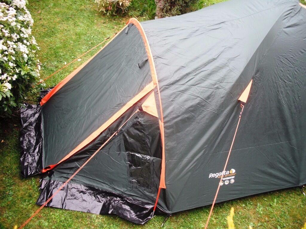 Regatta hydrafort 2000HH 2 man double skinned dome tent used once & Regatta hydrafort 2000HH 2 man double skinned dome tent used once ...