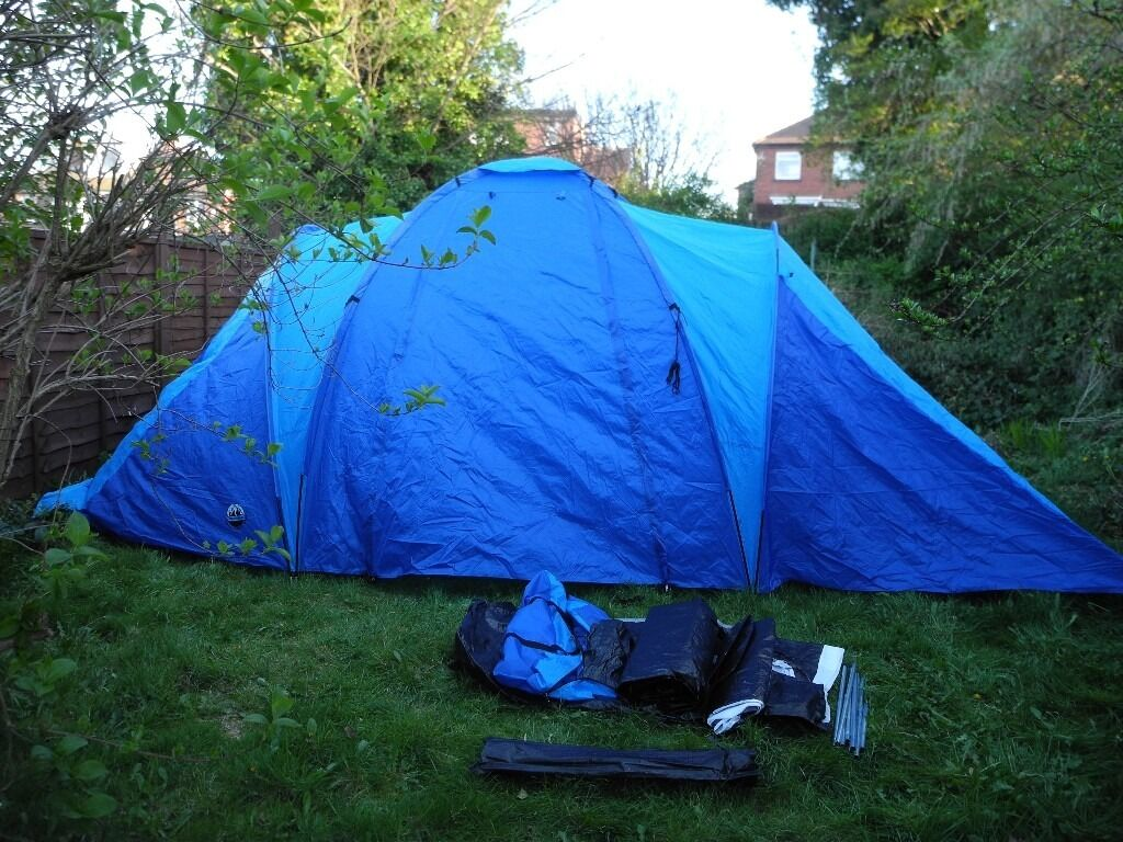 LARGE ADVENTURE RIDGE 6 PERSON FAMILY TENT 3 BEDROOMS + LIVING AREA USED ONCE SHEFFIELD & LARGE ADVENTURE RIDGE 6 PERSON FAMILY TENT 3 BEDROOMS + LIVING ...