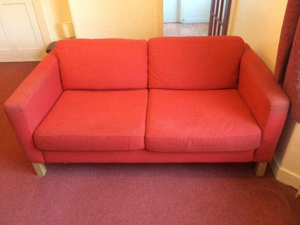 Sold Pending Collection   Sofa U0026 Armchair (Ikea Karlstad, Red)