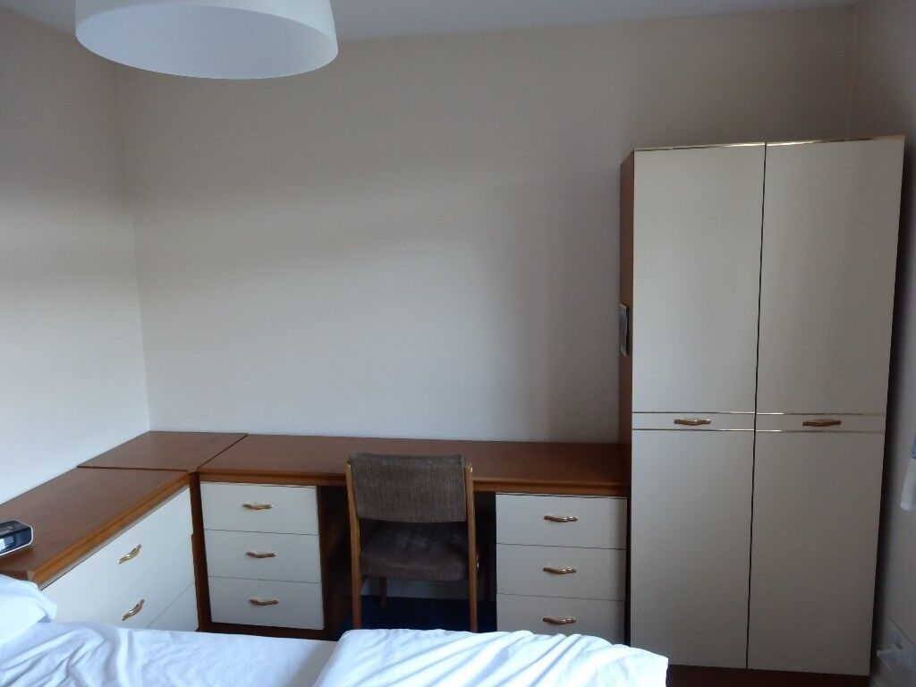 MFI Bedroom Furniture Set, Chest Of Drawers, Desk With Two Side Drawers Corner  Unit