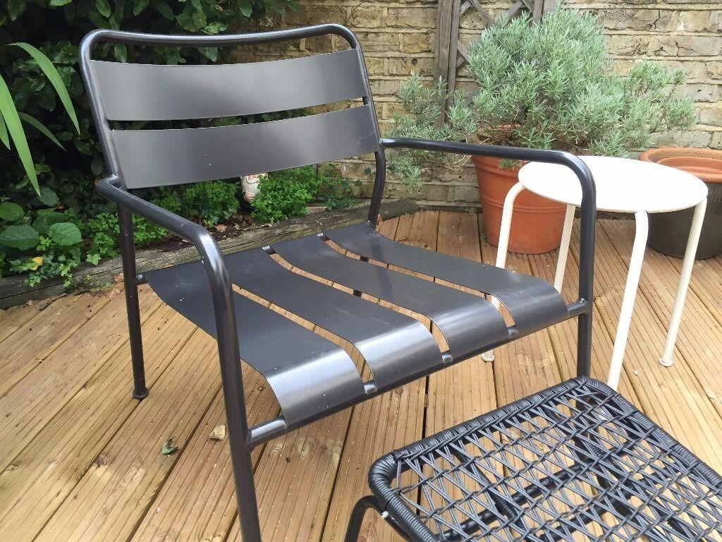 2 Ikea Garden Chairs + Ottoman