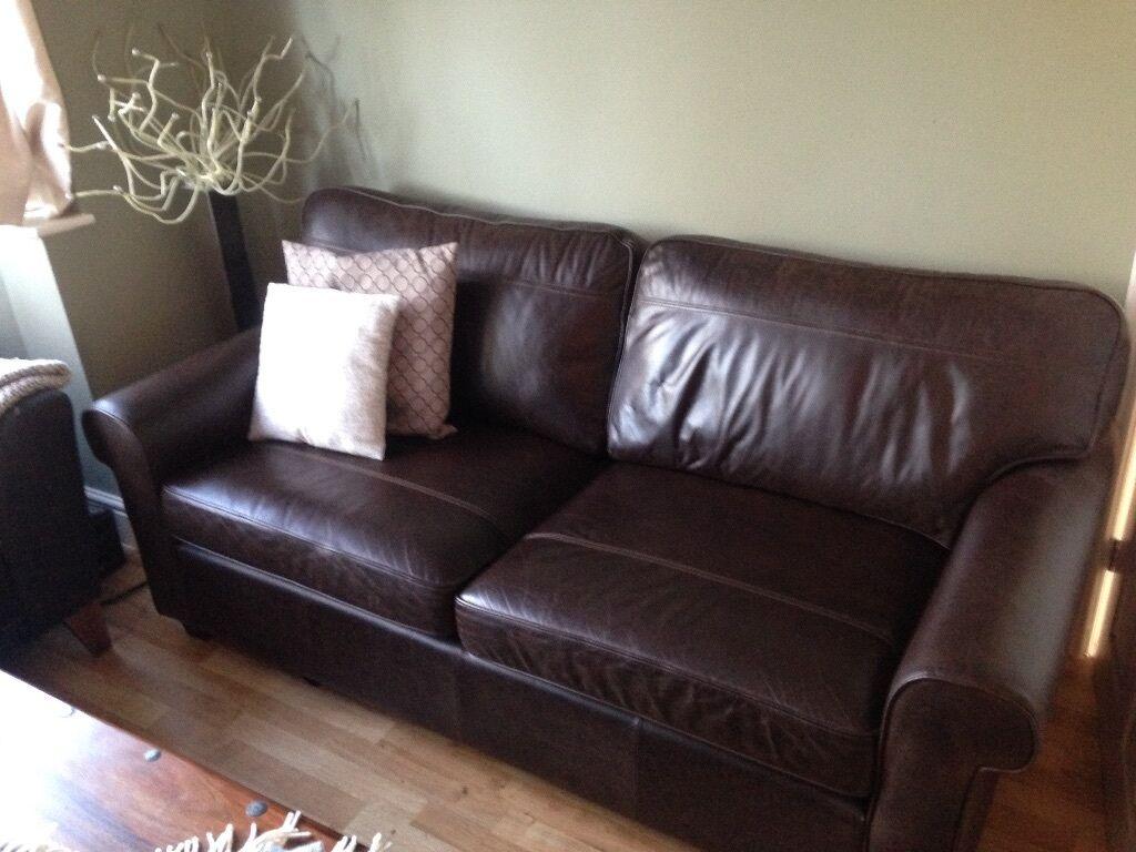 Debenhams Oban Large Leather Sofa