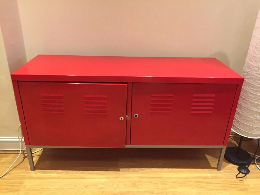 Red IKEA Cabinet | TV Stand | Storage Unit