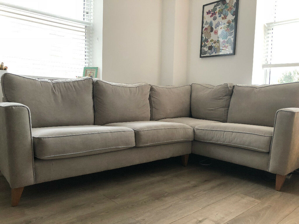 Furniture Village Copenhagen Fabric Corner Sofa RRP £1335 (Right Hand  Facing)