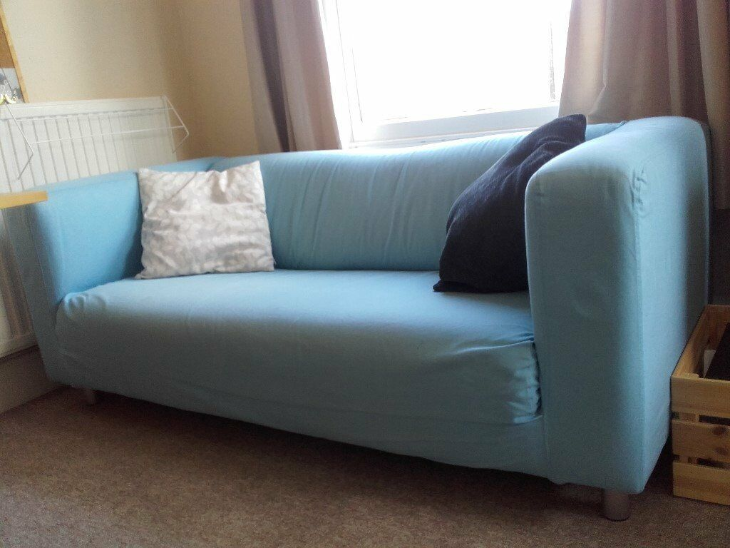 Ikea Klippan Sofa In Light Blue *RESERVED*