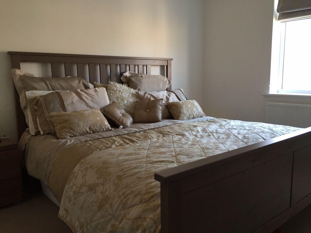 Ikea Super King Size Hemnes Bed Frame 180 X 200