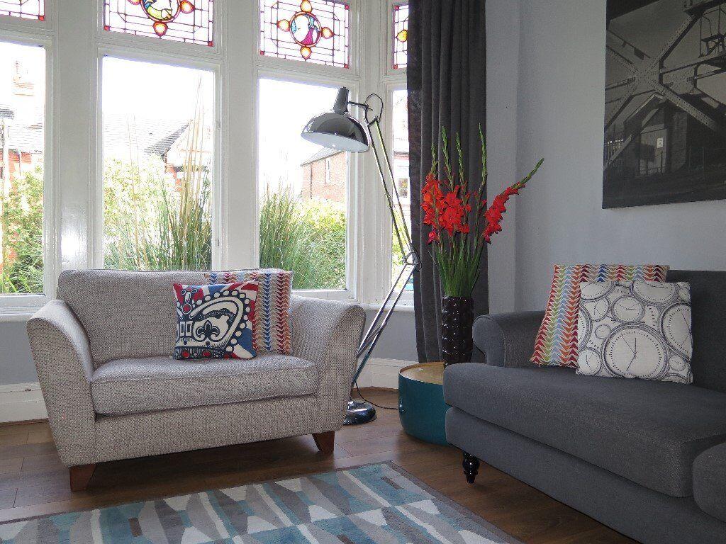 Grey Mu0026S MARKS U0026 SPENCER U0027Barlettau0027 Loveseat Snuggle Chair Sofa Armchair