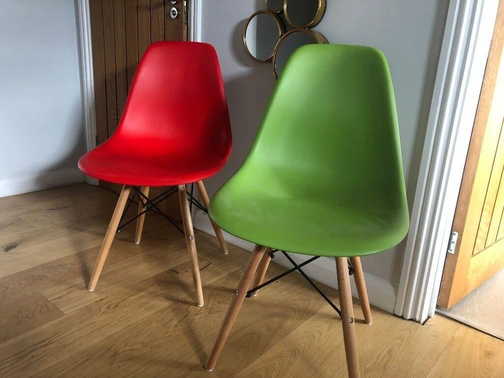 2 X Dining Chair Replica Charles Eames DSW Eiffel
