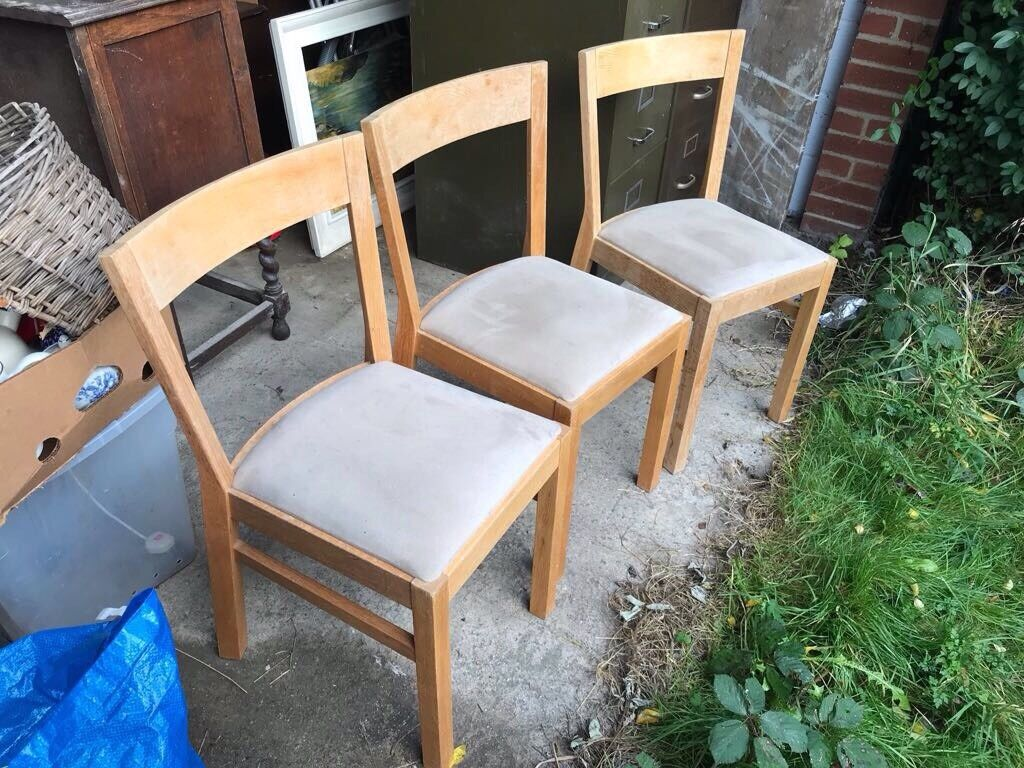 3 IKEA Roger Solid Oak Chairs - Good Condition! : ikea roger chair - Cheerinfomania.Com
