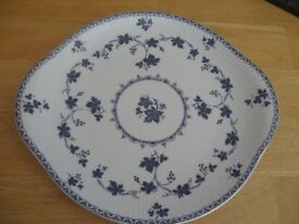 ROYAL DOULTON YORKTOWN (RIBBED) CAKE PLATE & Blue and white Rocha John Rocha dinnerware | in Waterlooville ...