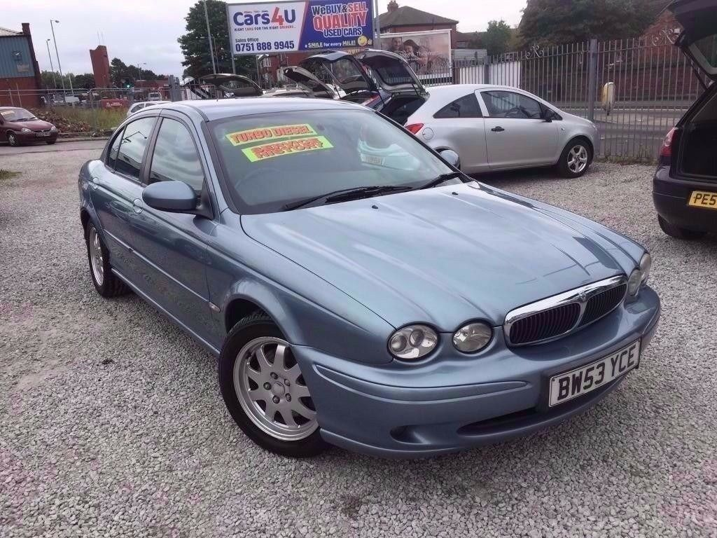 Superb 03 JAGUAR X TYPE CLASSIC D 2.0 DIESEL IN BLUE *PX WELCOME* MOT